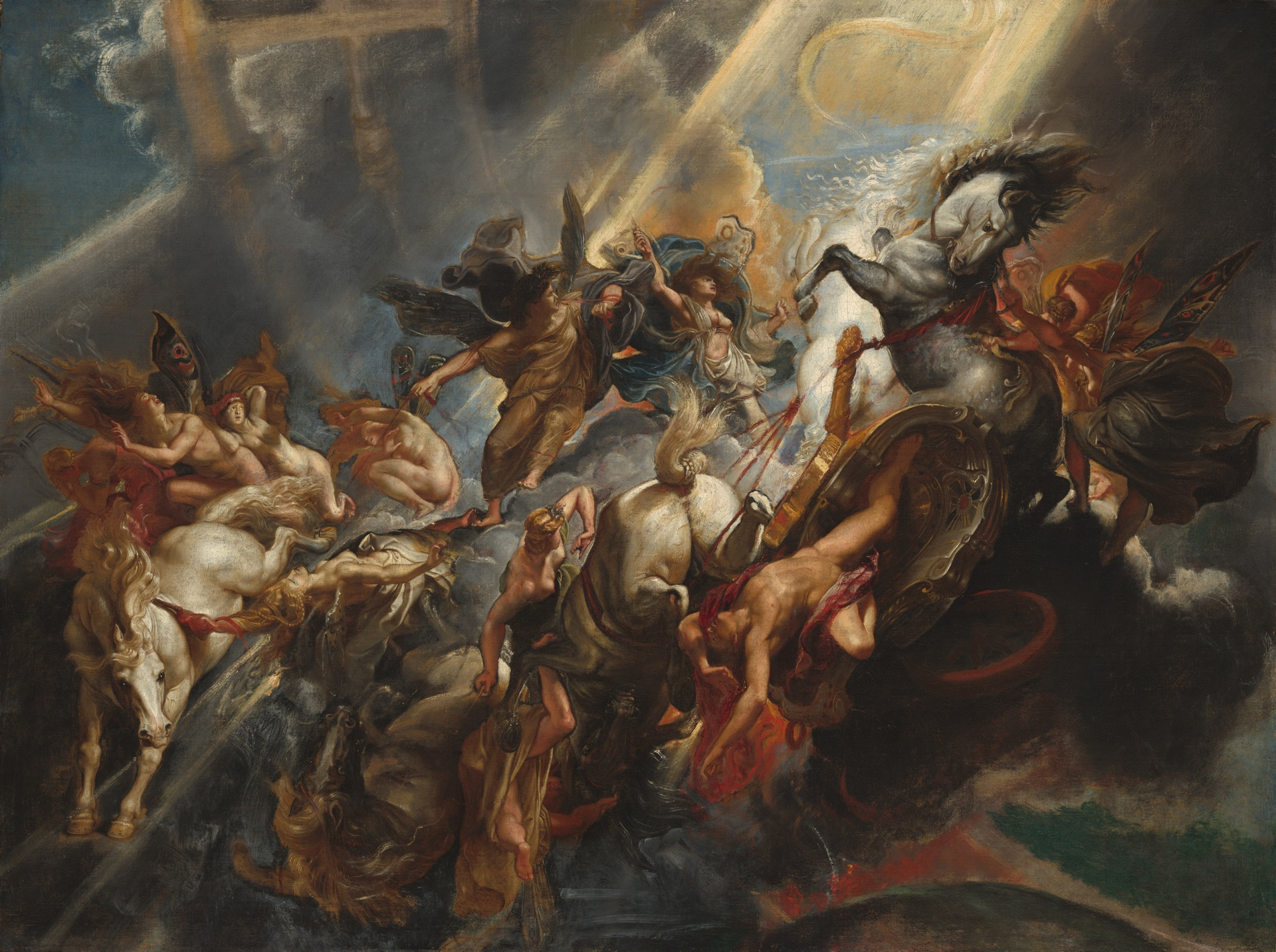 The Fall of Phaeton by Peter Paul Rubens, c. 1604/1605. National Gallery of Art.
